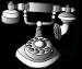 french rotary phoneblackandwhite