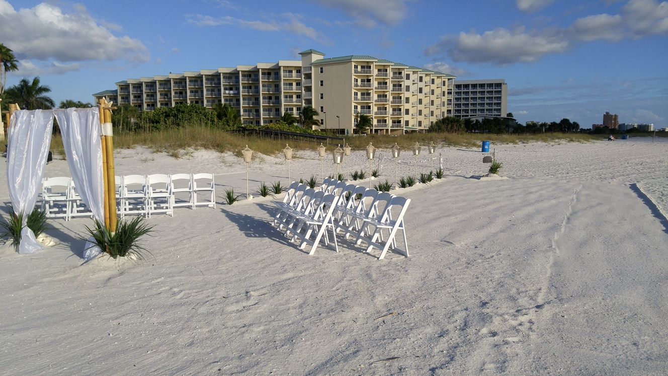 Sunset Vistas Beachfront Suites, Treasure Island Beach, Resort Wedding