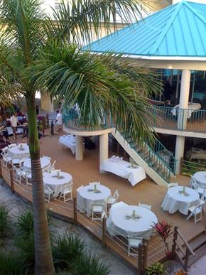 Central / South Beach Restaurants, Wedding Reception Venues, Sunset Cafe, Sunset Vistas Beachfront Suites, Treasure Island, FL
