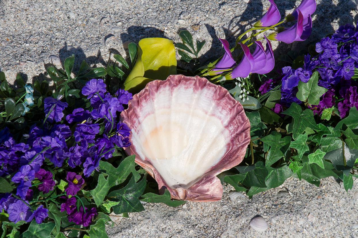 Purple Heart Wreath Altar Detail
