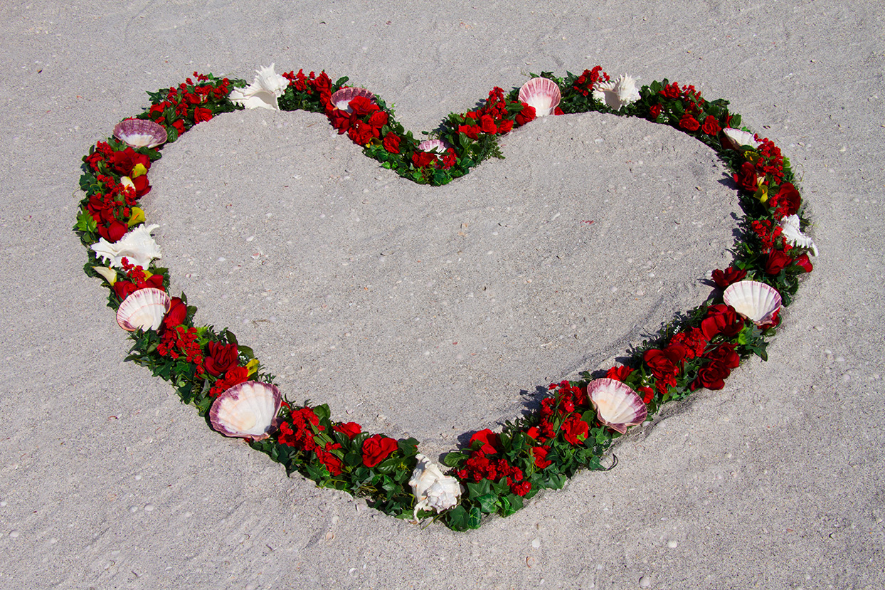 Red Heart Wreath Altar